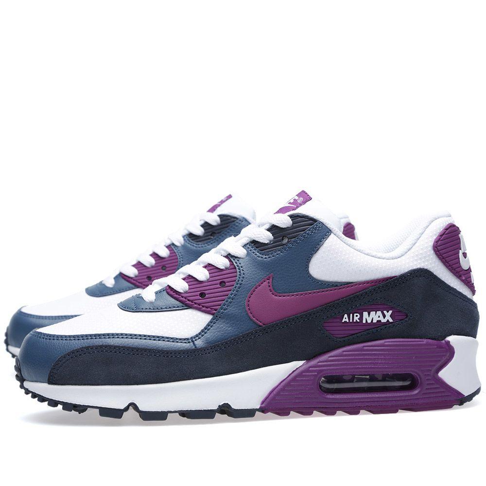 Nike Air Max 90 Essential White   Bright Grape  a91b414fb52