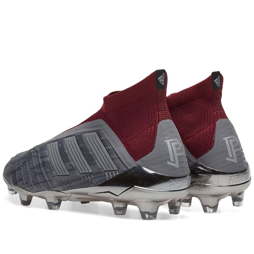 competitive price 58b22 bf65b Adidas x Paul Pogba Predator 18+ FG Iron  Burgundy  END.