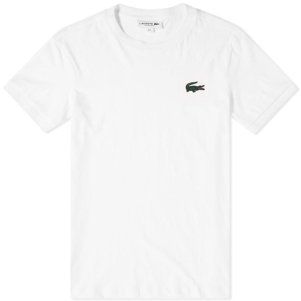 aa5f5ba7fb396 Lacoste Big Croc Logo Tee White