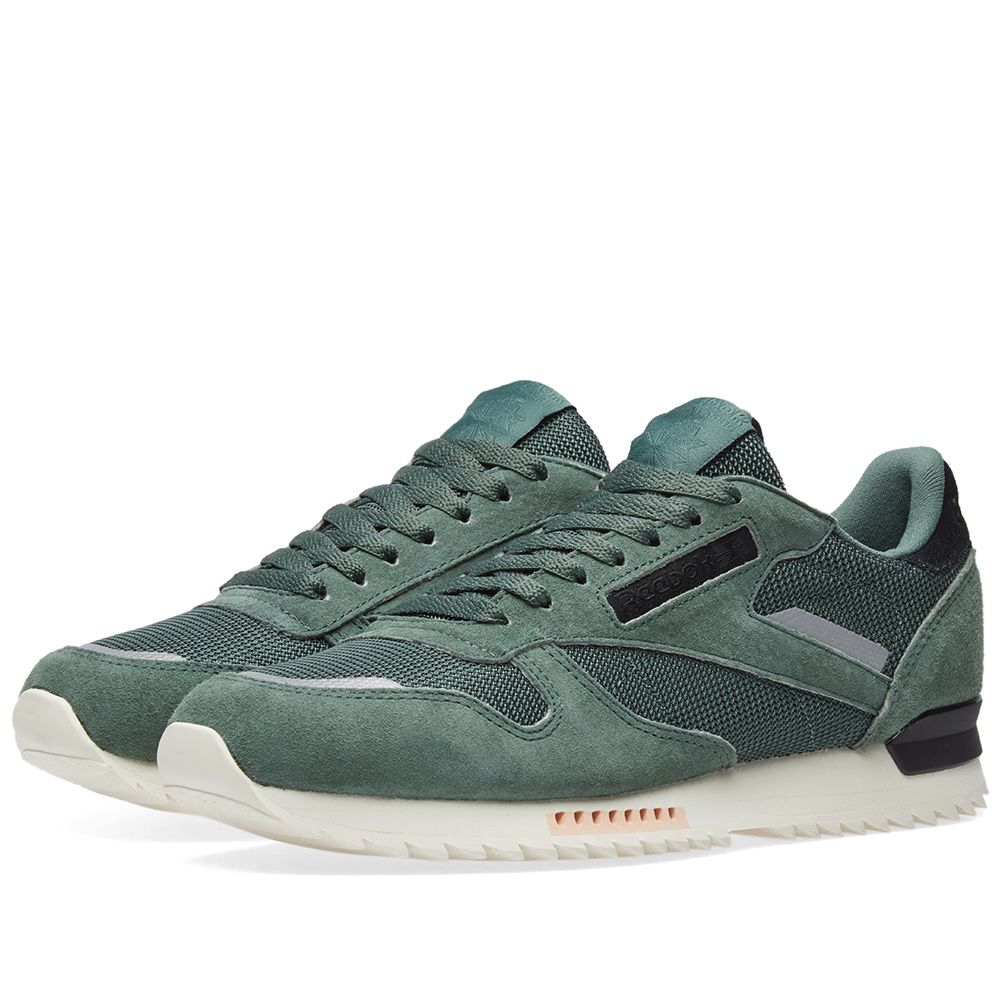 a6e3f2325ff Reebok Classic Leather Ripple Chalk Green   Whisper Teal
