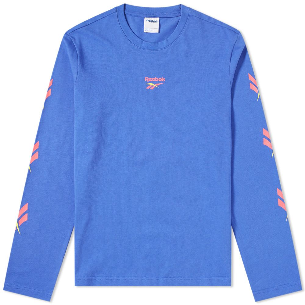 47605fdd7623 Reebok Long Sleeve LF Vector Tee Acid Blue