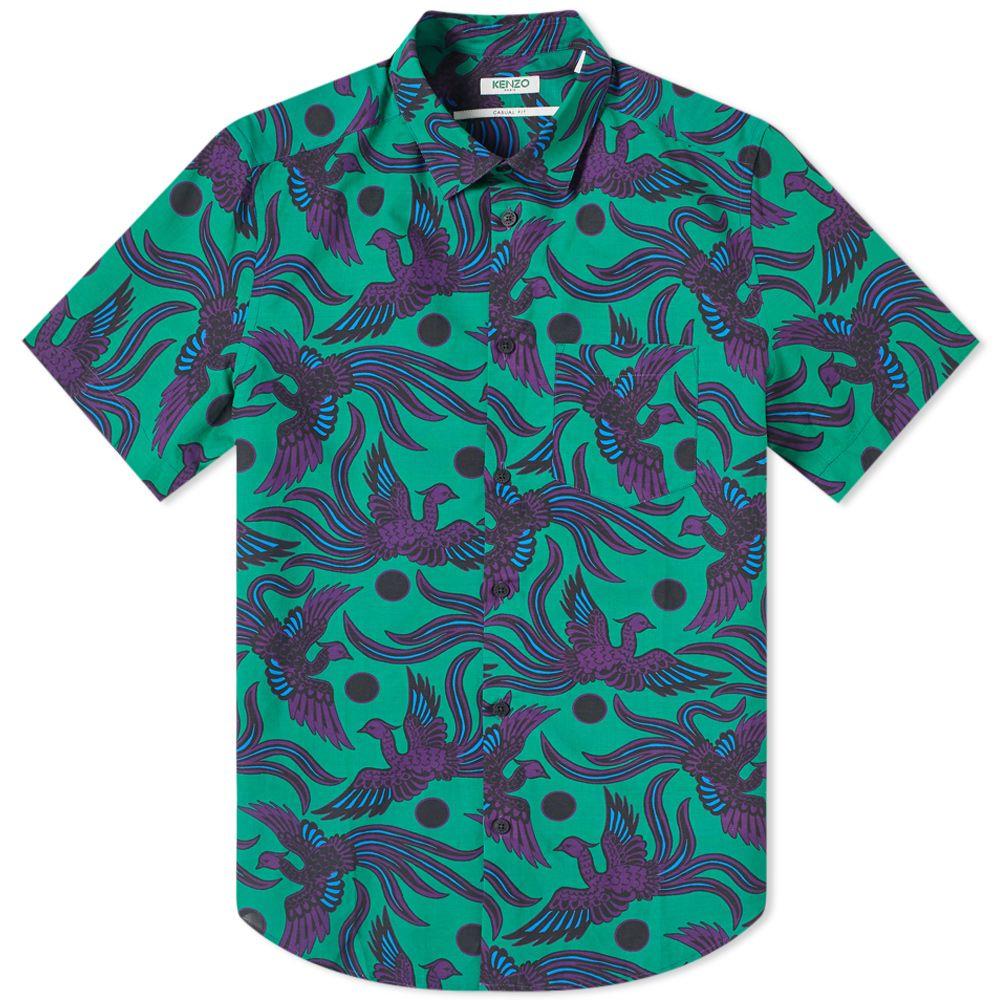c1e02364 Kenzo Short Sleeve Phoenix Print Shirt Green | END.