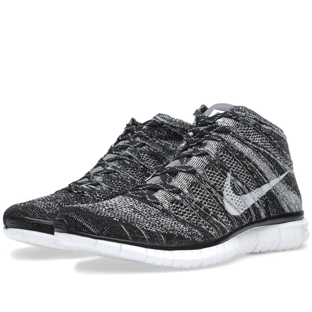 13254d275bd90f Nike Free Flyknit Chukka Black   Pure Platinum