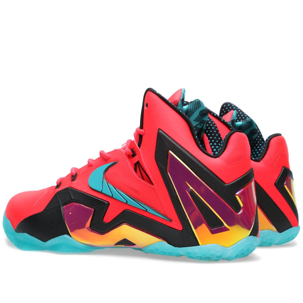 wholesale dealer 5dbef f08d2 Nike LeBron XI Elite  Hero  Laser Crimson   Turbo Green   END.