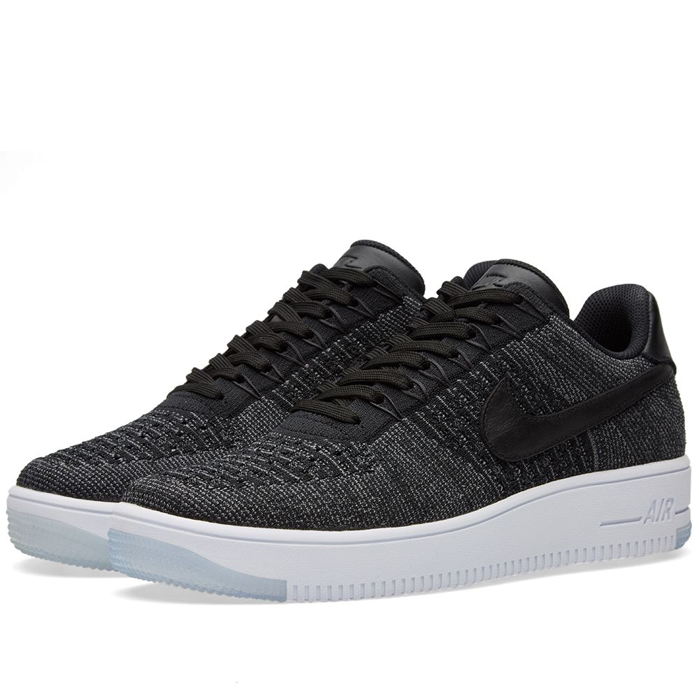 new style ad558 966da Nike Air Force 1 Flyknit Low. Black, Dark Grey  White. £129 £84. image