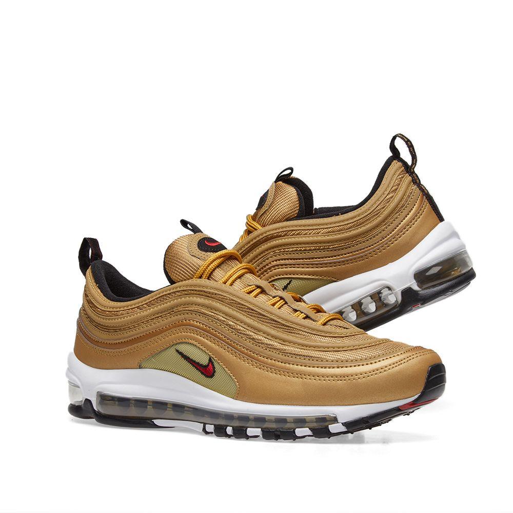 1616fe443f3b53 Nike Air Max 97 OG QS Metallic Gold   Varsity Red