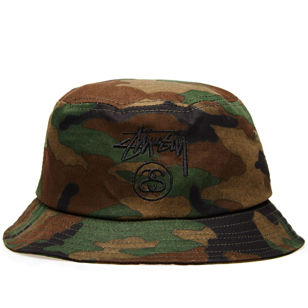 Stussy Stock Lock Bucket Hat. Olive Camo.  59. image. image a31d80a0650