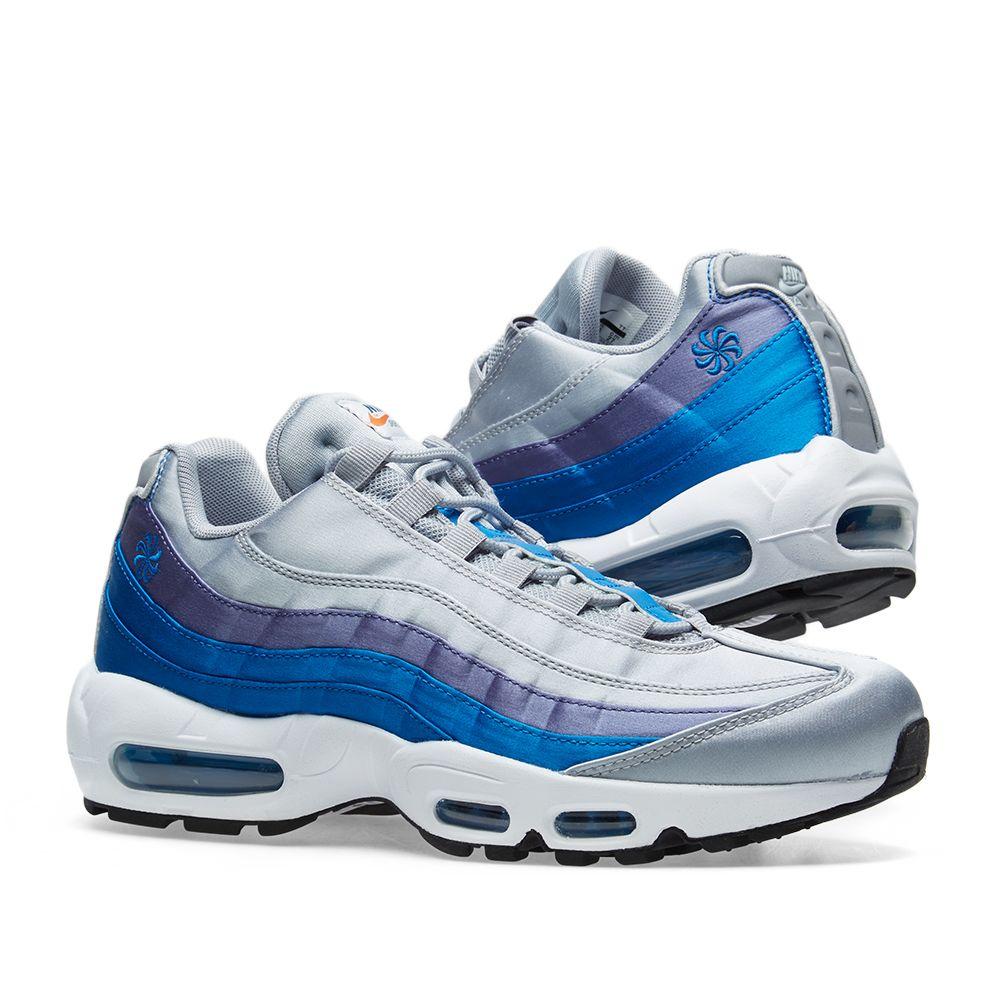 buy online 56ae7 885b7 Nike Air Max 95 SE Grey, Blue Nebula  Purple  END.
