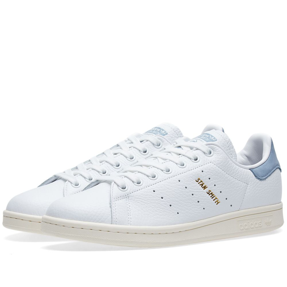 Adidas Stan Smith White   Tactile Blue  d87687fabc