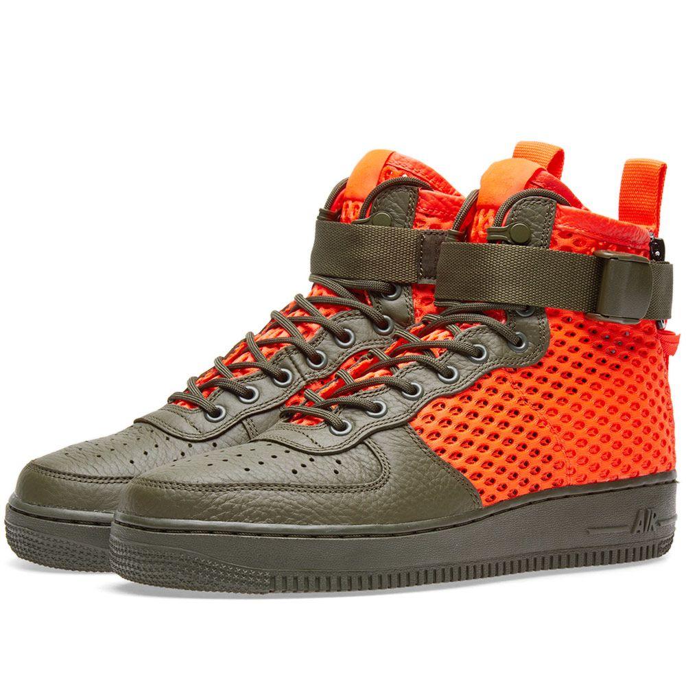 3177c140497004 Nike SF Air Force 1 Mid QS Cargo Khaki   Total Crimson