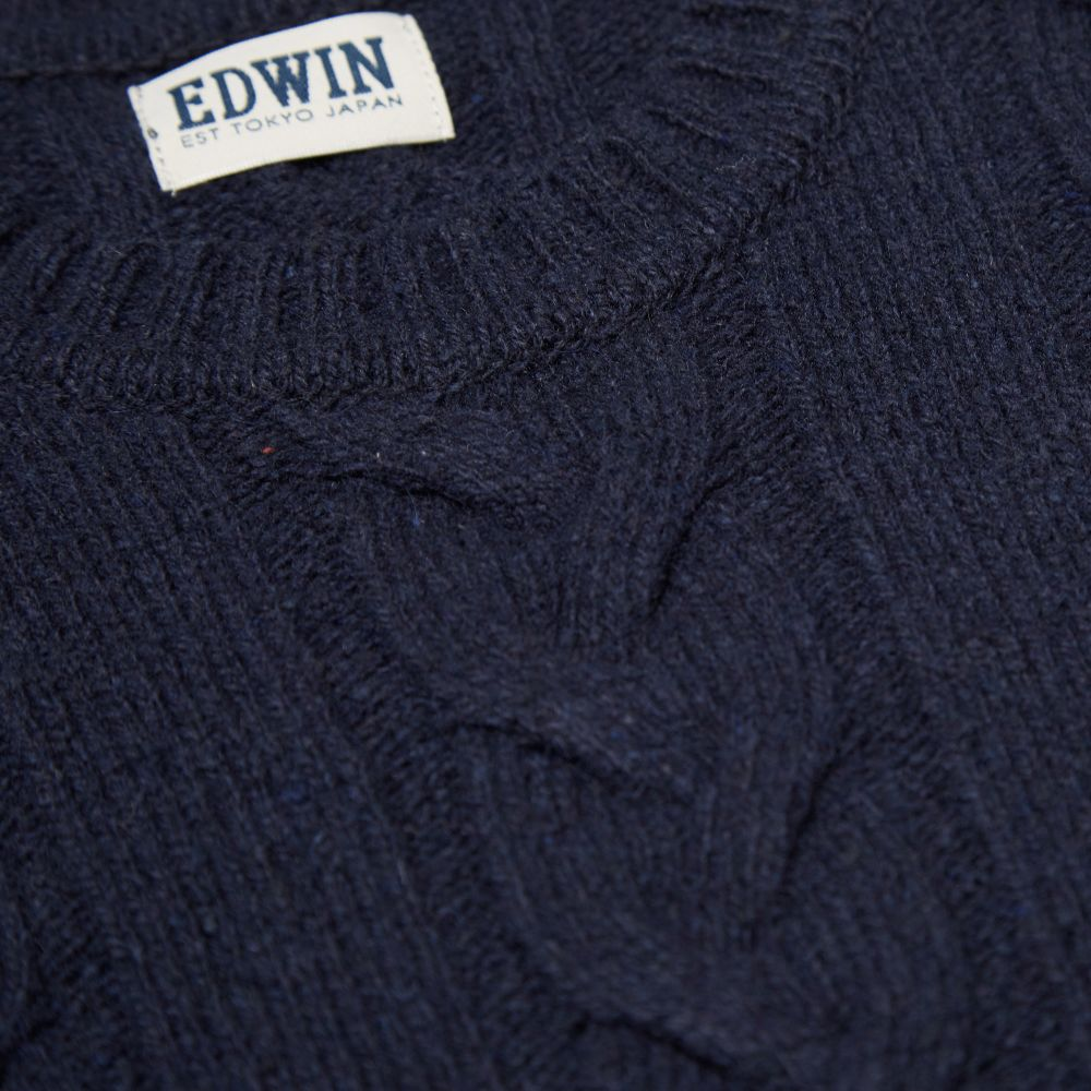 1136162aac0 Edwin Shackle Crew Knit Navy