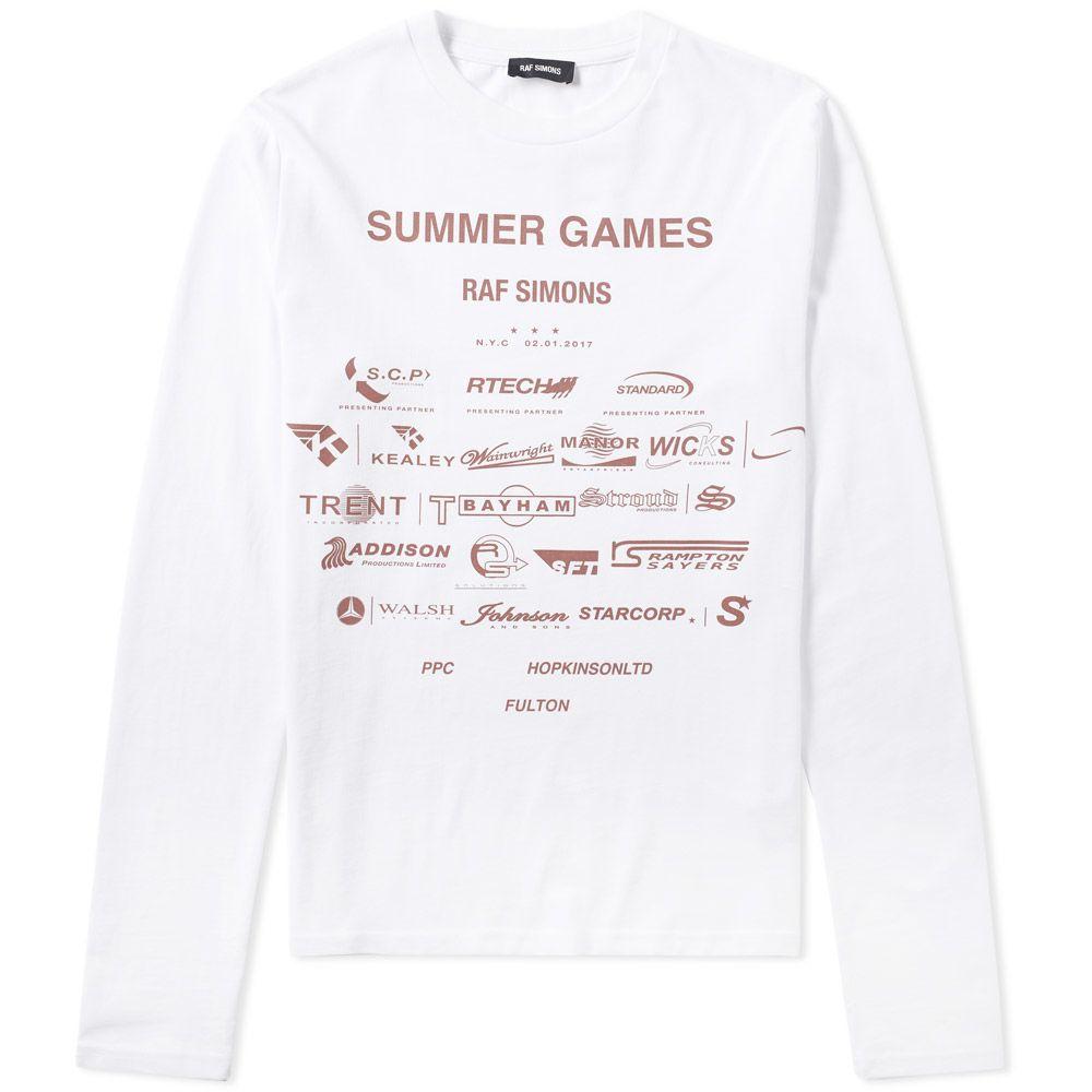 3d6fde485aa0 homeRaf Simons Long Sleeve Summer Games Tee. image. image. image. image.  image. image. image. image