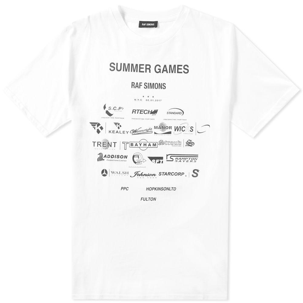 a38ed99d3fa Raf Simons Summer Games Tee White   Black