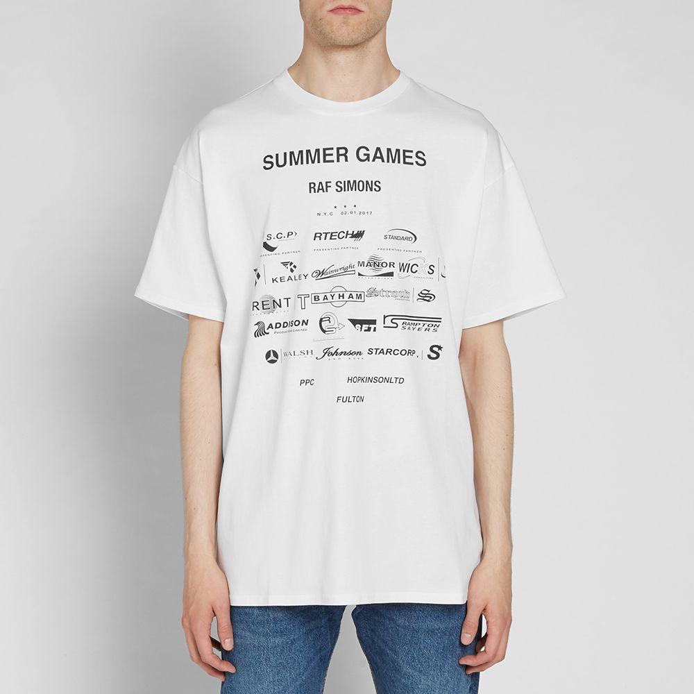7c63fce8be3f Raf Simons Summer Games Tee White   Black
