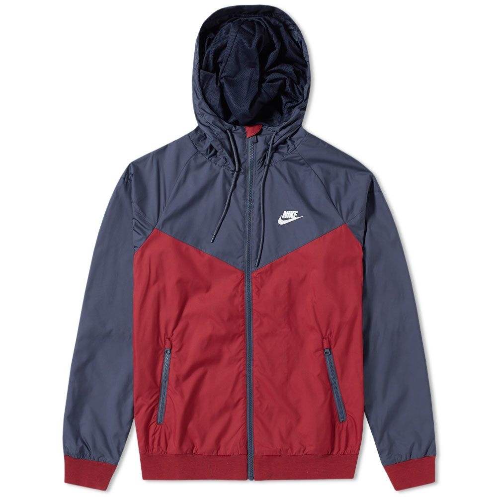 67ab2dd5e4c2 Nike Windrunner Jacket Team Red   Thunder Blue