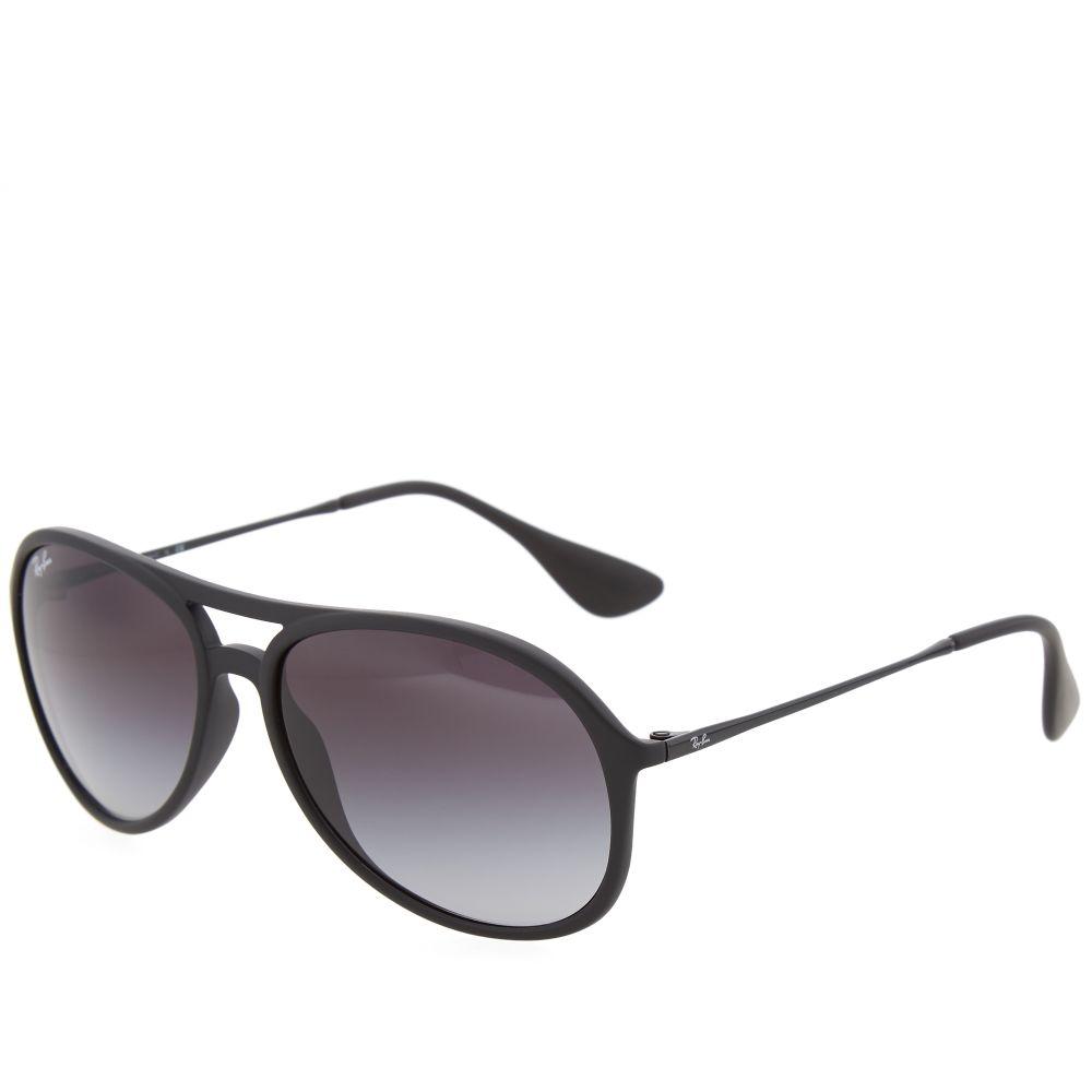 aa7efd5392 Ray Ban Alex Sunglasses Black Rubber & Grey Gradient   END.