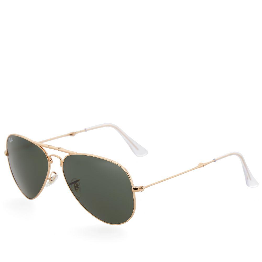 b07b2725706 Ray Ban Aviator Folding Sunglasses. Gold   Green. £159. Plus Free Shipping.  image