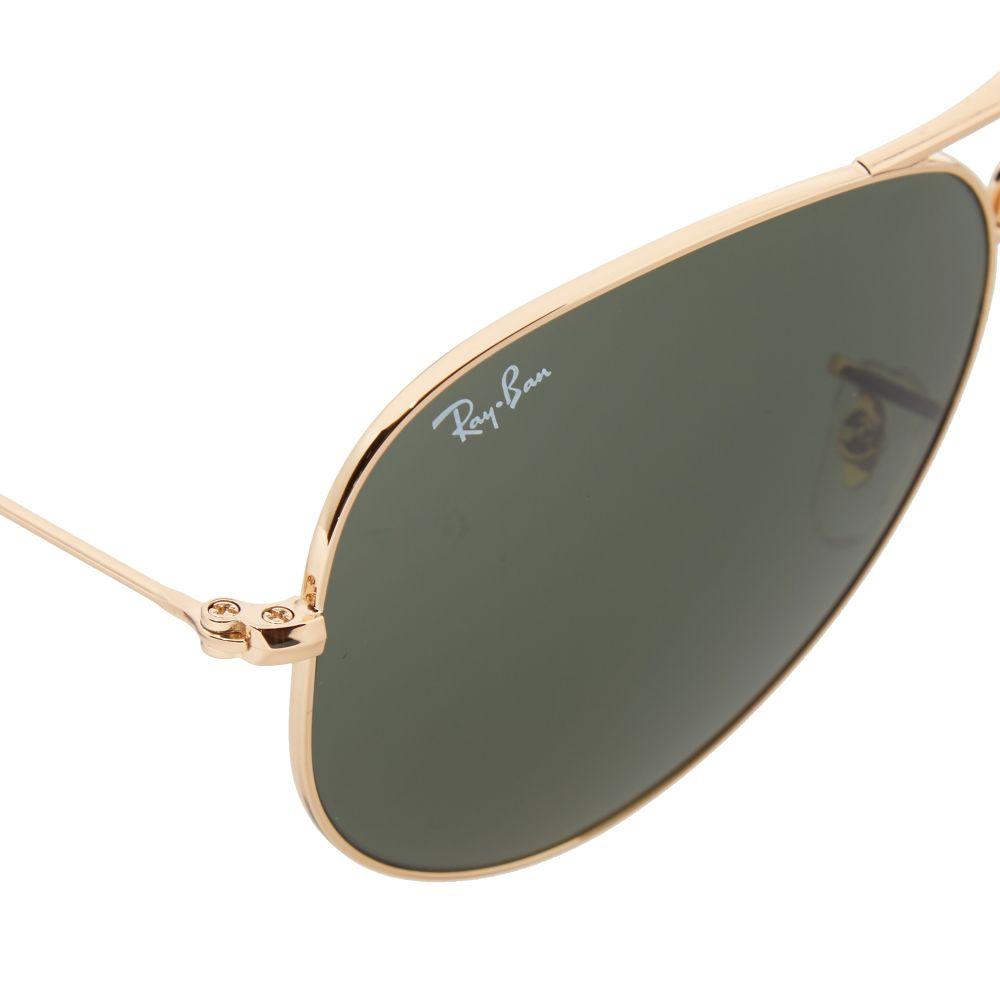a69217333dc Ray Ban Aviator Folding Sunglasses Gold   Green
