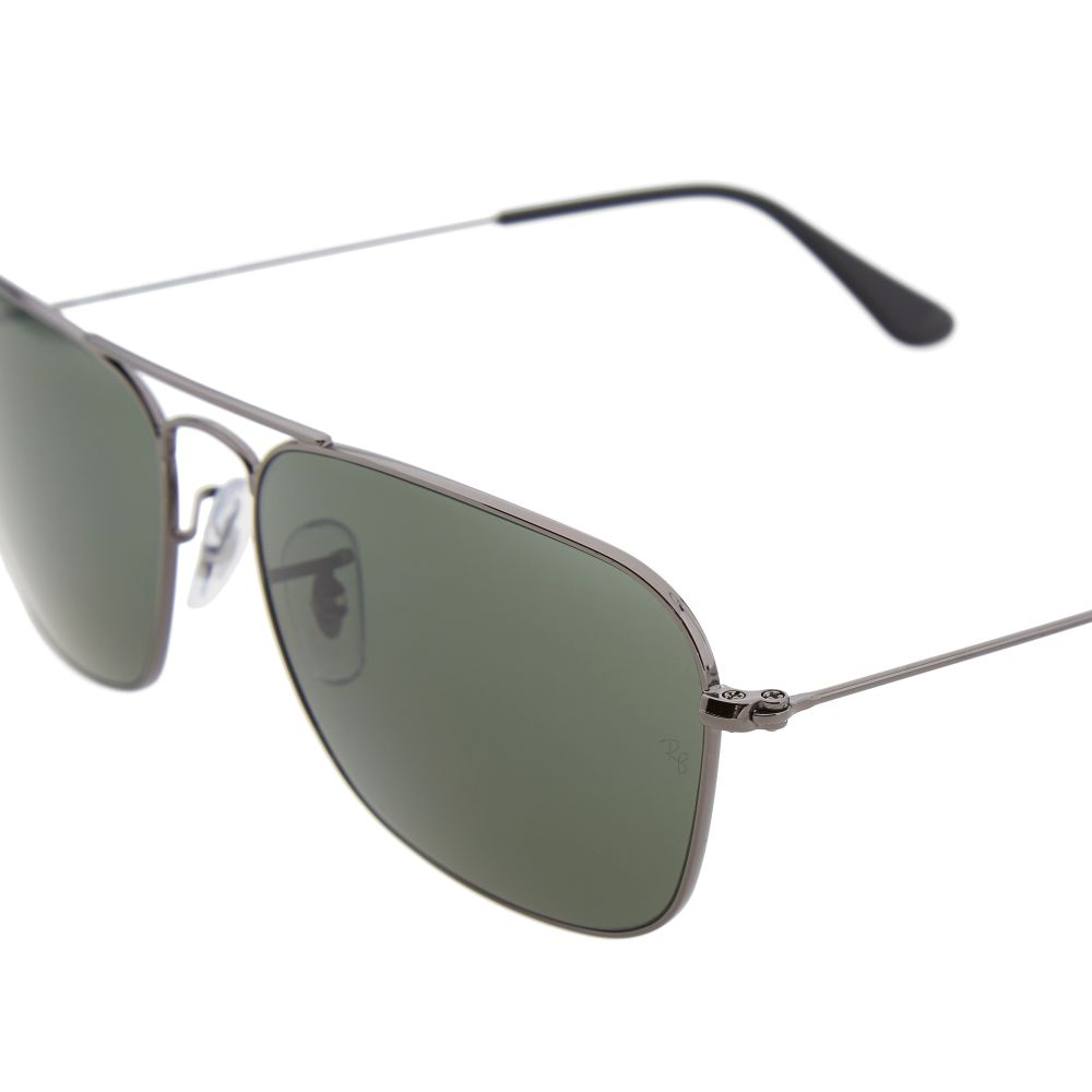 8ef8ee90ee Ray Ban Caravan Sunglasses Gunmetal   Crystal Green
