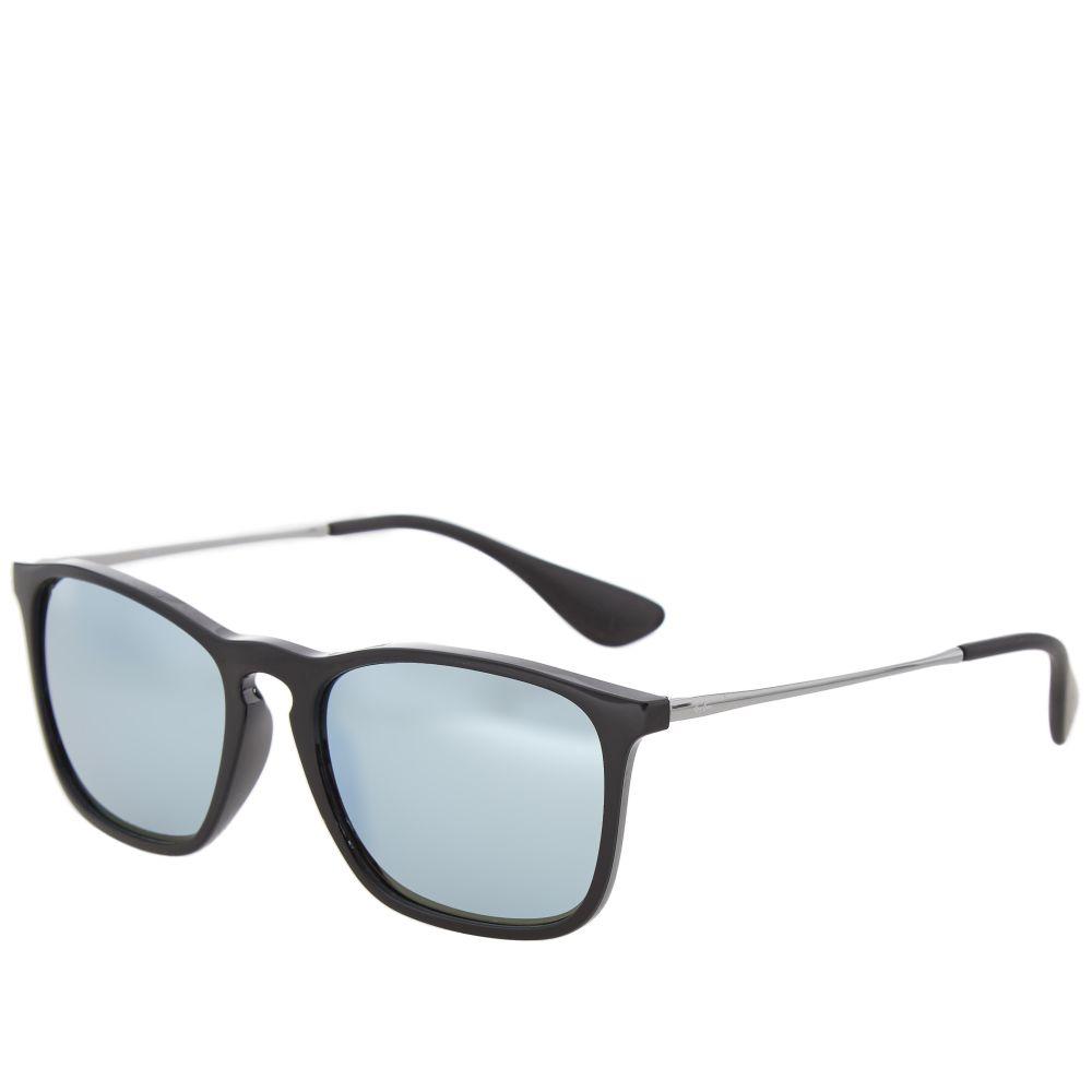 1f775f344f Ray Ban Chris Sunglasses. Black   Green Mirror Silver.  135. image