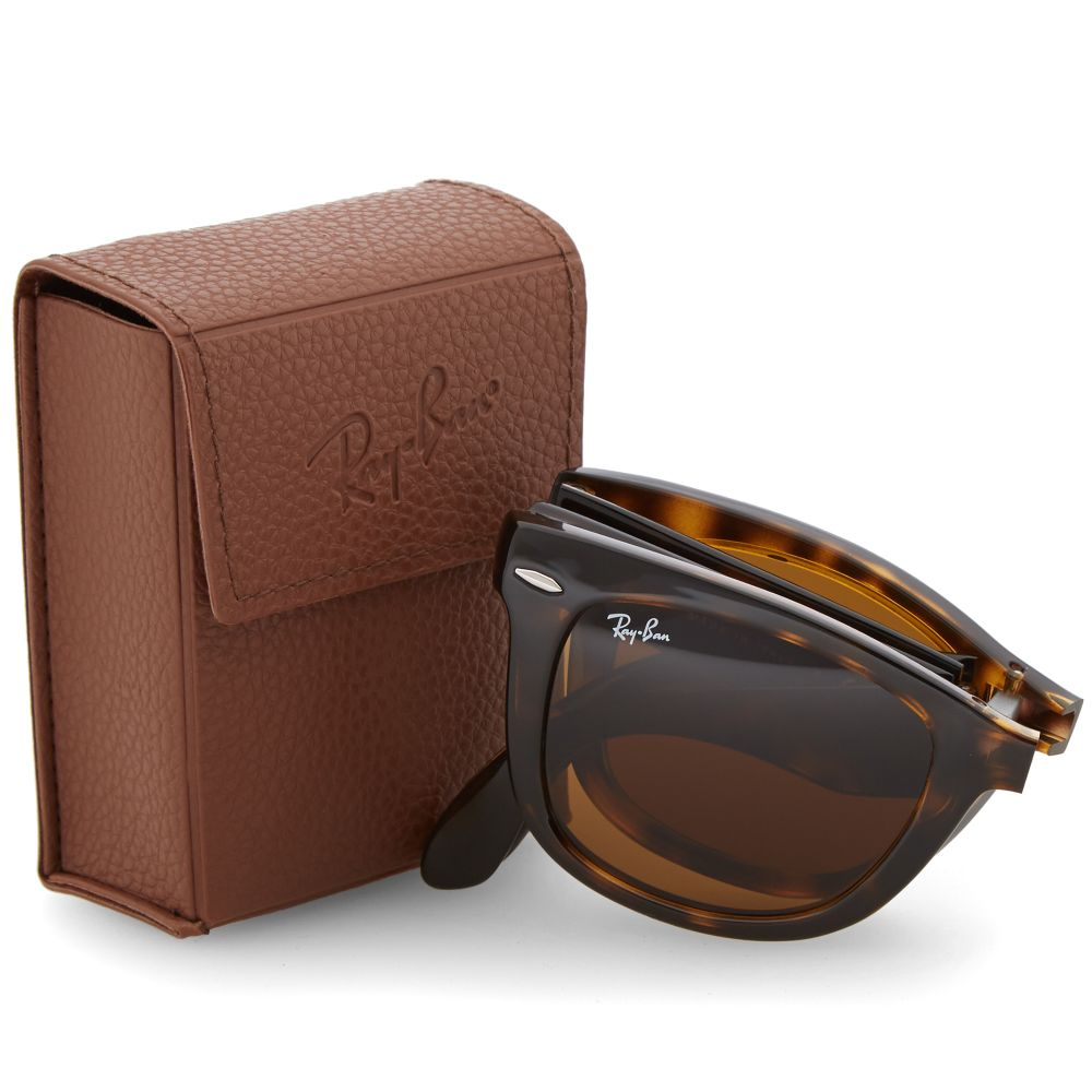 715582b7122b56 Ray Ban Wayfarer Folding Sunglasses Light Havana   Brown   END.
