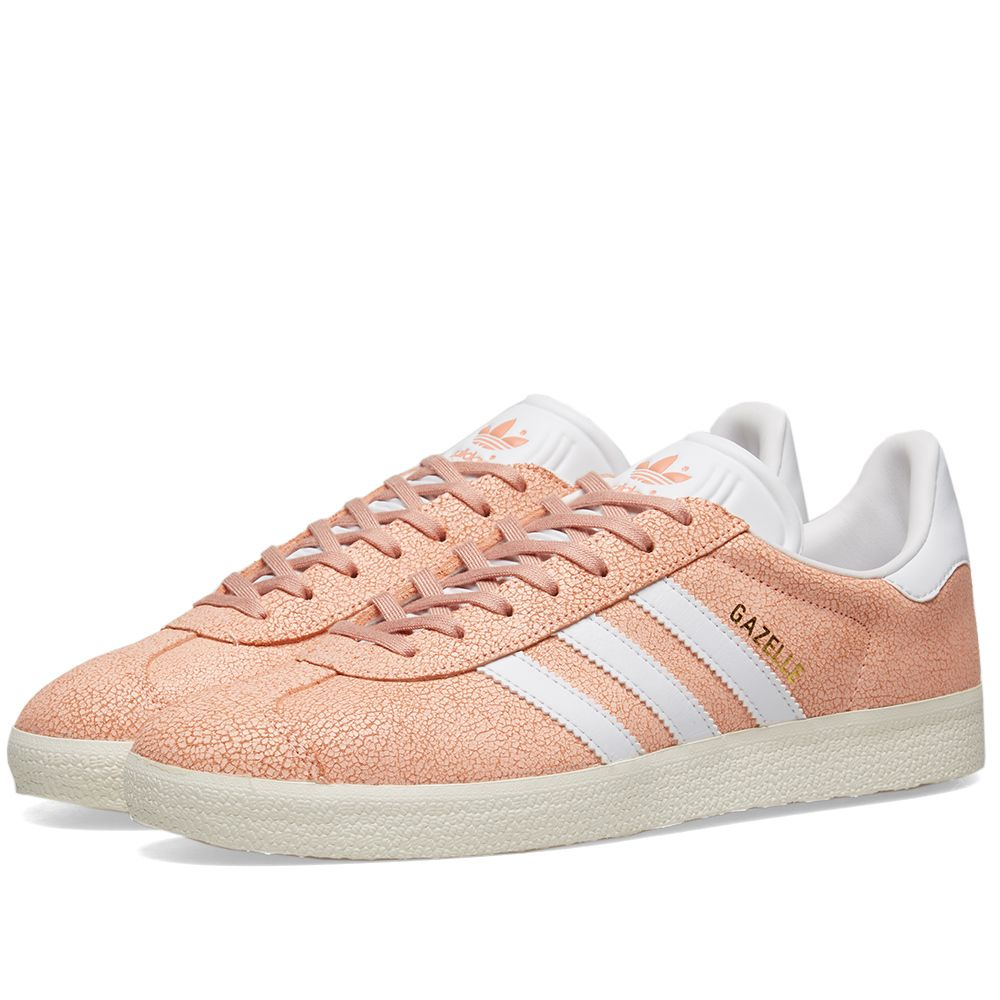 c222d4d6808 Adidas Gazelle W Clear Orange   White