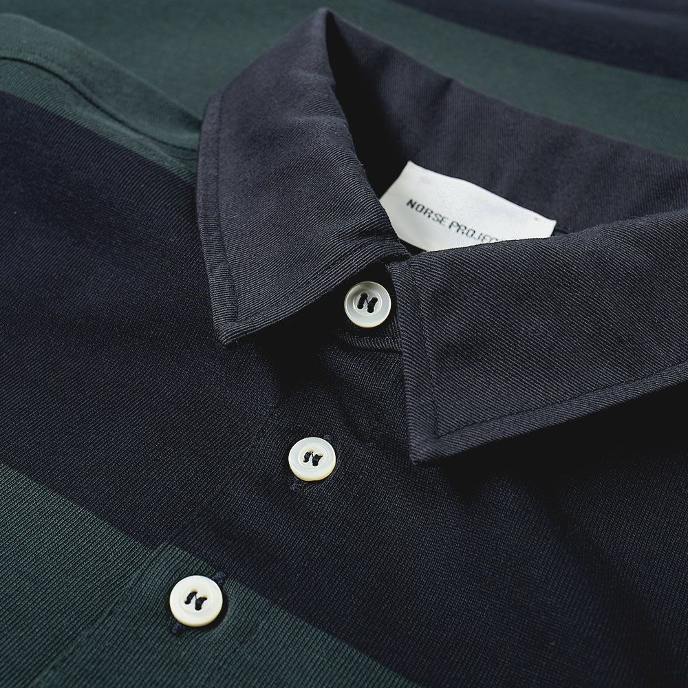 943a81b18c0bc Norse Projects Ruben Stripe Polo Spinnaker Green
