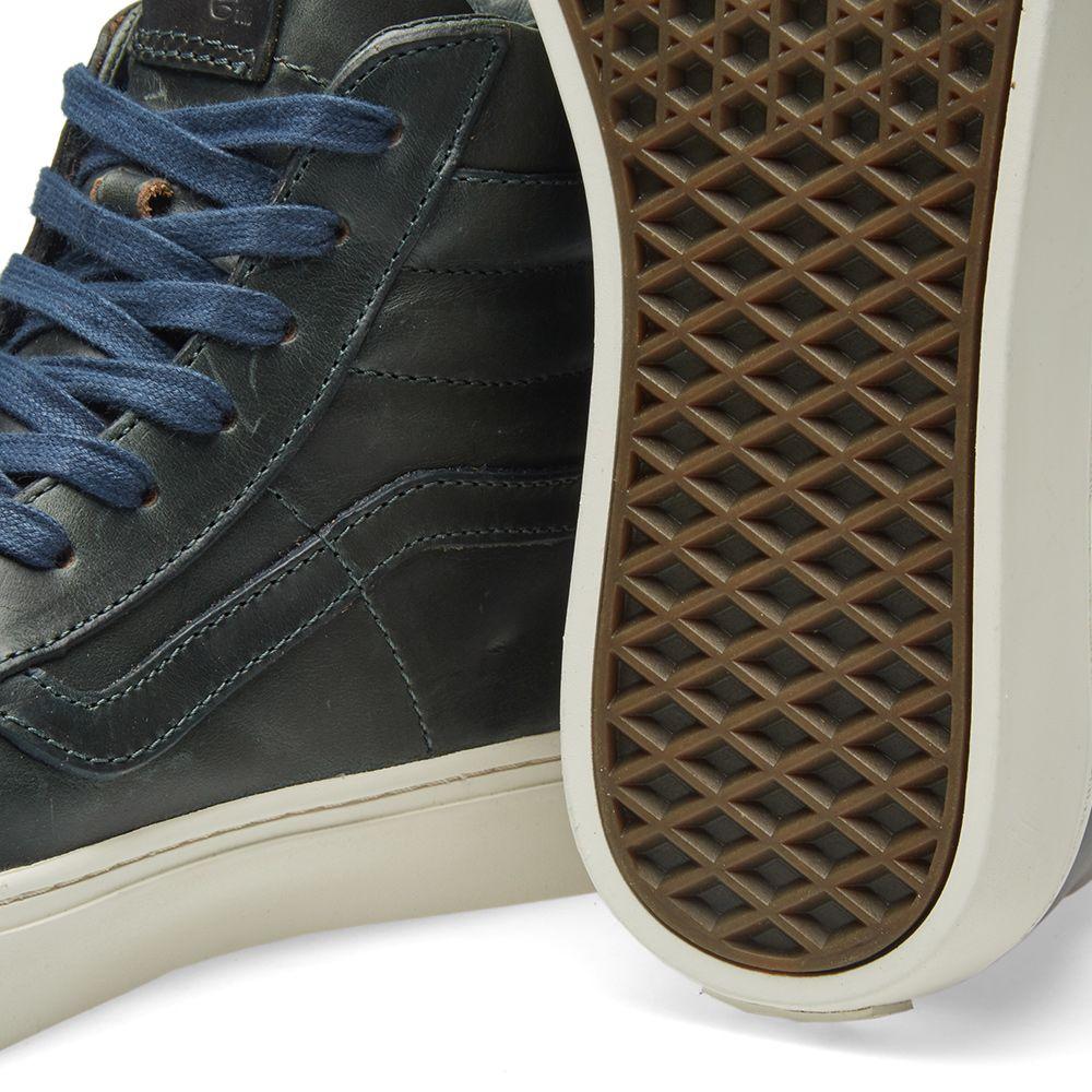 991d249aeb Vans Vault x Horween Leather Co. Sk8-Hi Cup LX Parisian Blue