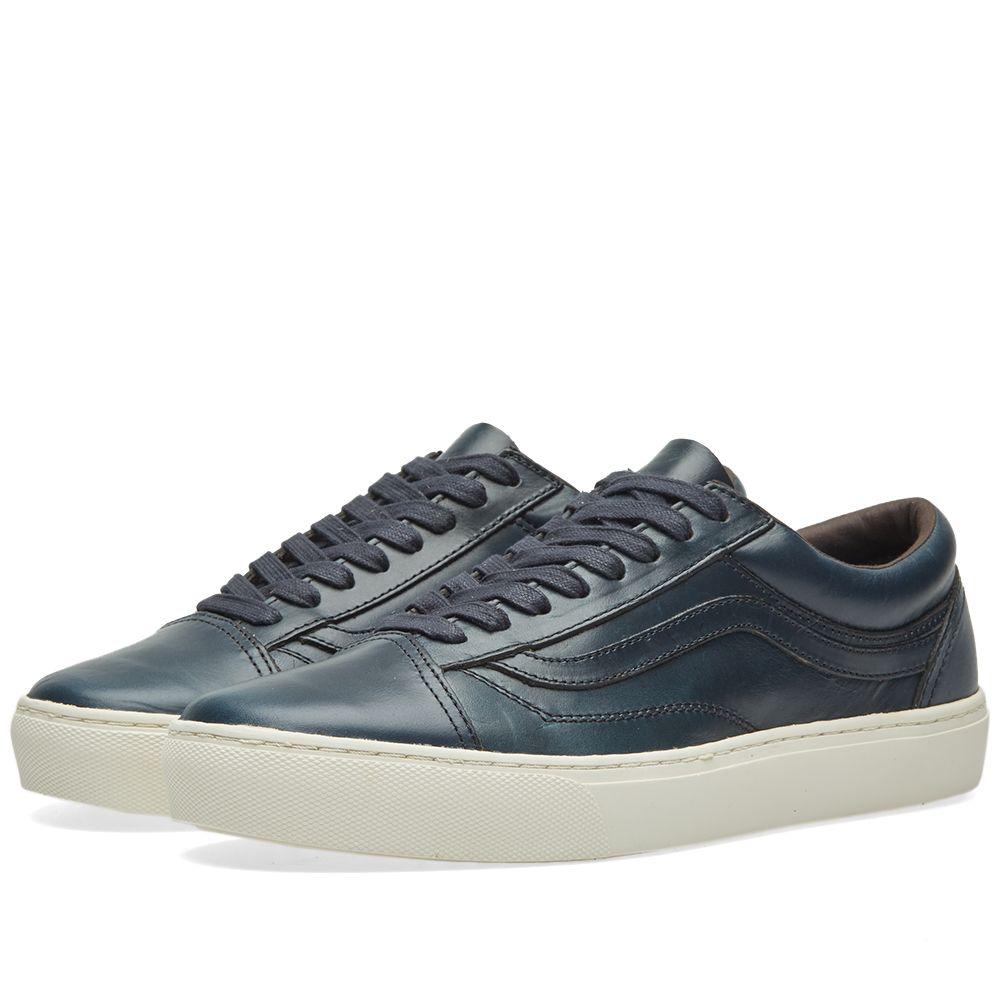 43f3df831ef9e0 Vans Vault x Horween Leather Co. Old Skool Cup LX Navy