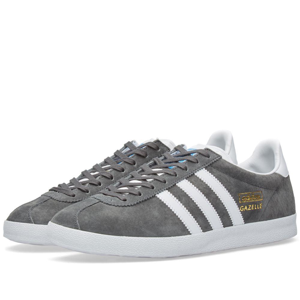 sale retailer d4fcd 667e9 Adidas Gazelle OG. Solid Grey, White  Dark Grey. S115 S75. image