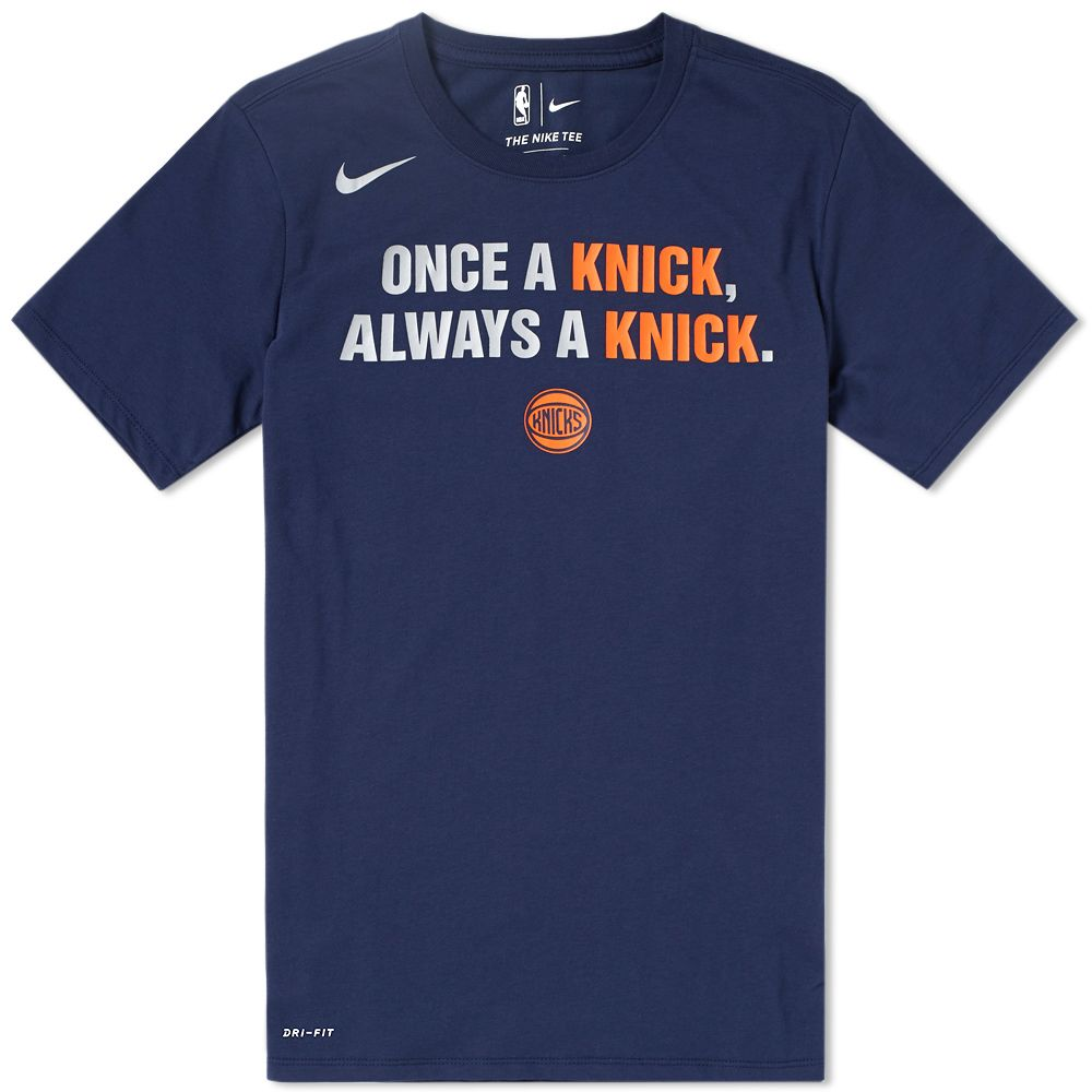 ecfb3d9b8 Nike New York Knicks City Edition Tee. College Navy. S 49. image