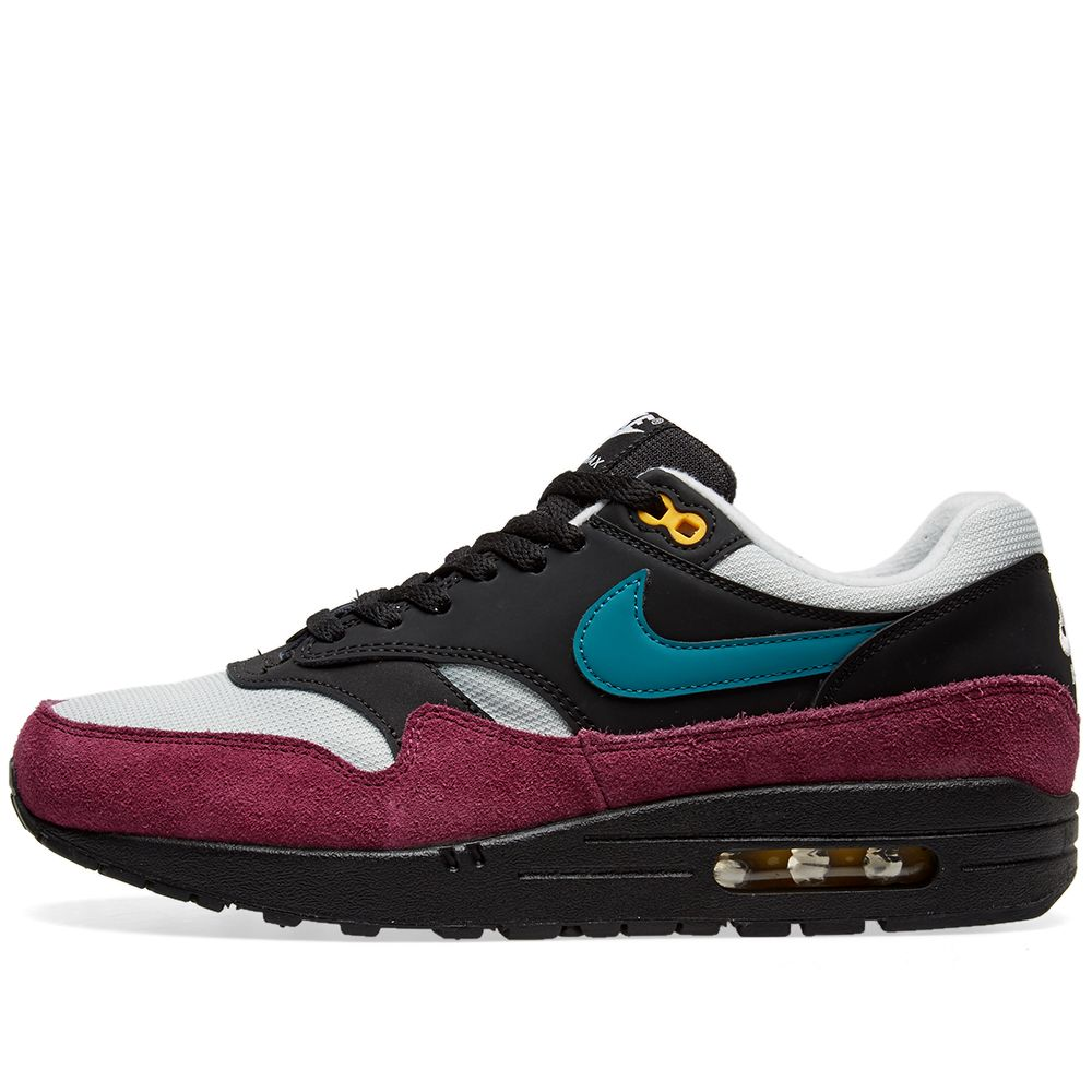 size 40 5b82c eff04 Nike Air Max 1 W Black, Teal, Silver  Bordeaux  END.