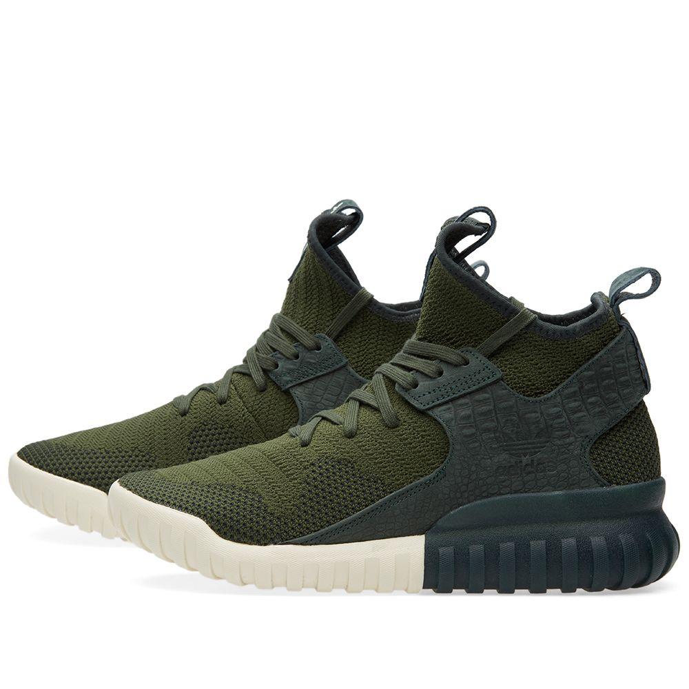 8710e93a561c Adidas Tubular X Primeknit Shadow Green