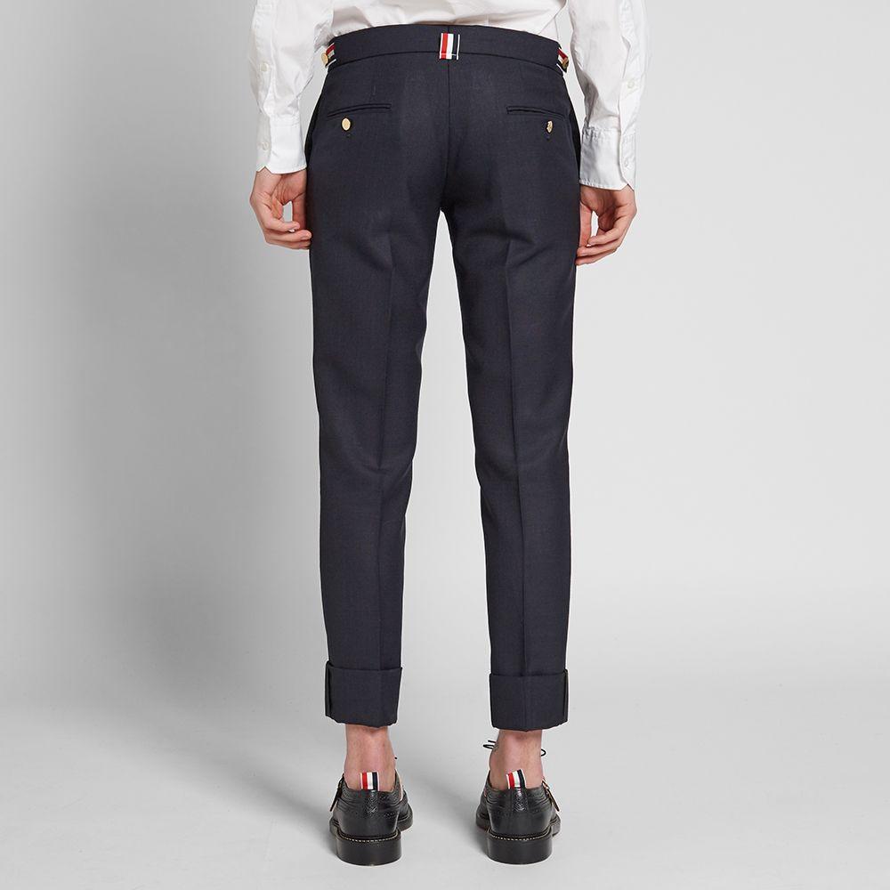 c498dcbf96e Thom Browne Side Tab Slim Fit Trouser Navy