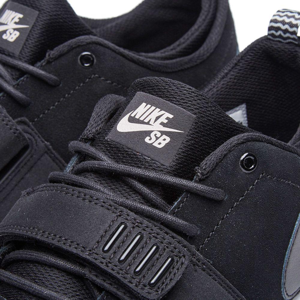 5f95070aa2e Nike SB Trainerendor Leather Black   White