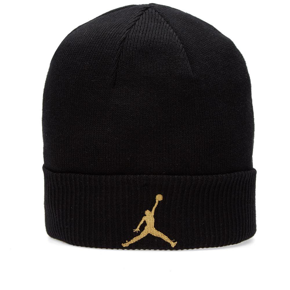 89a709821d3 Nike Air Jordan x OVO Cuff Beanie Black   Metallic Gold