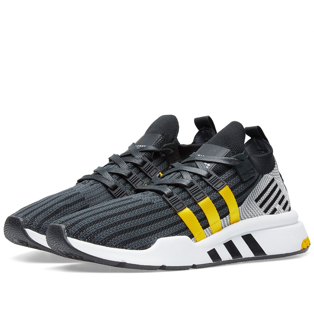 new style b7658 f7c50 Adidas EQT Support Mid ADV PK Black, Yellow  White  END.
