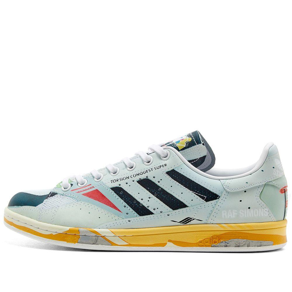 Adidas x Raf Simons Torsion Stan White, Core Black & Grey | END.