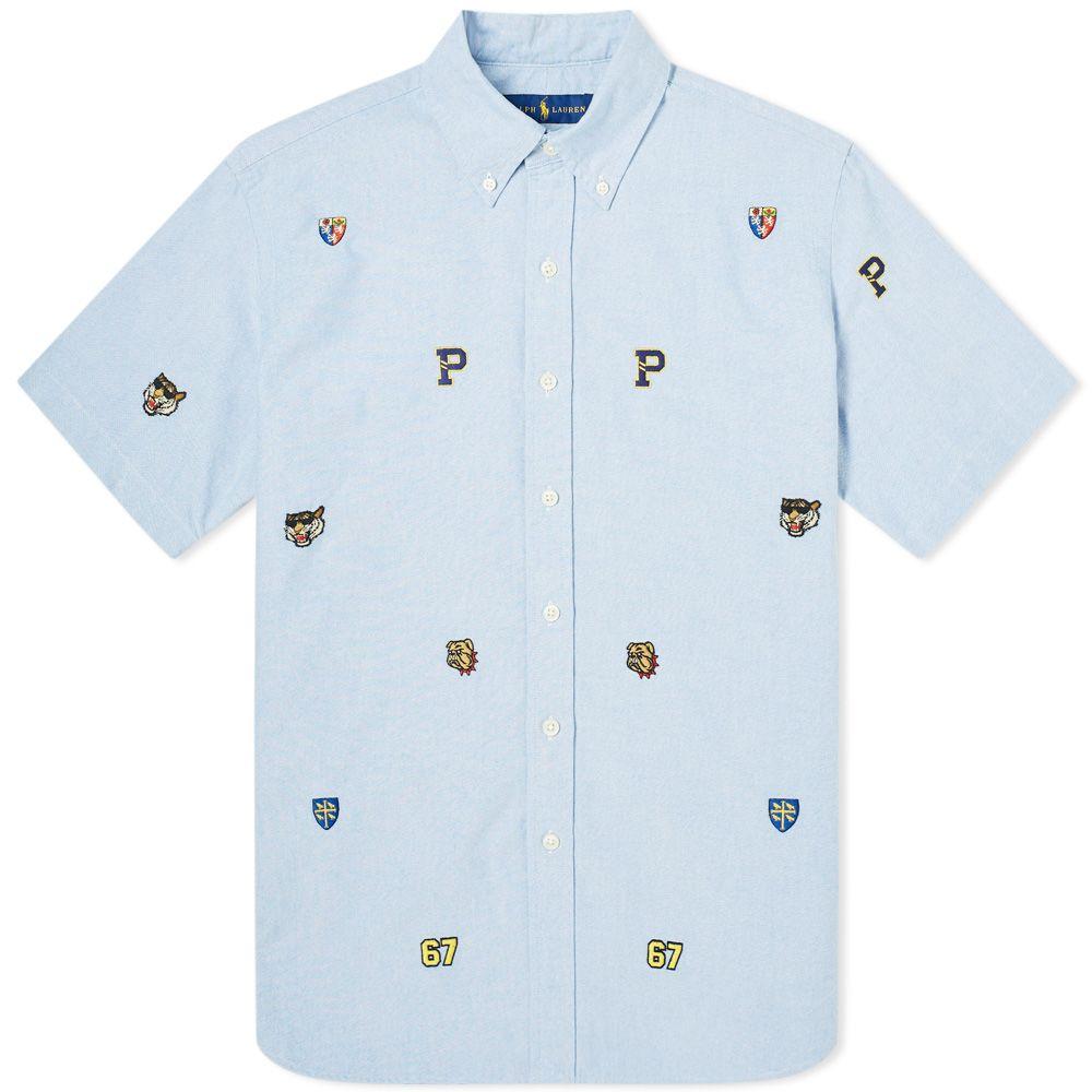 725e72f6e homePolo Ralph Lauren Short Sleeve Collegiate Embroidered Shirt. image.  image. image. image. image. image. image