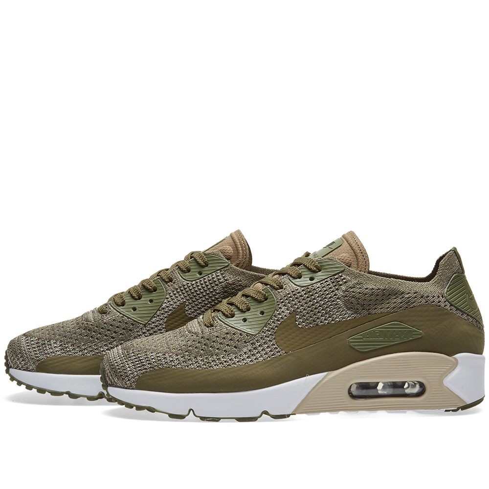 6a74843e6fc4 Nike Air Max 90 Ultra 2.0 Flyknit Medium Olive   String