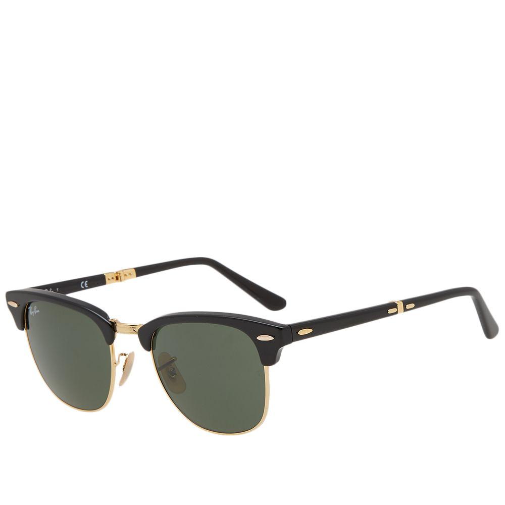 fac4bd3251 Ray Ban Clubmaster Folding Sunglasses Black   Green