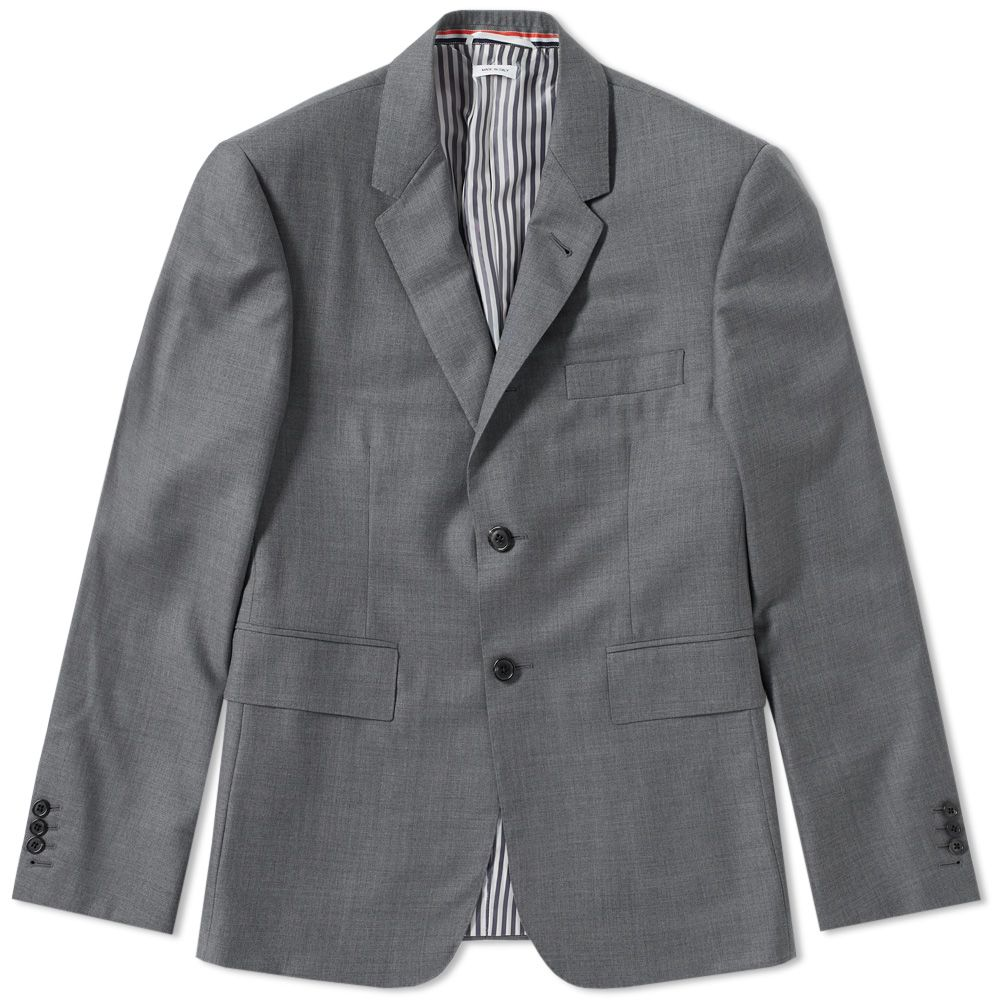 3a50a4b3552 Thom Browne Classic Super 120s Twill Suit Medium Grey