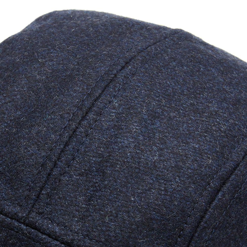 42d12ddcc6189 AMI Wool 5 Panel Logo Cap Indigo