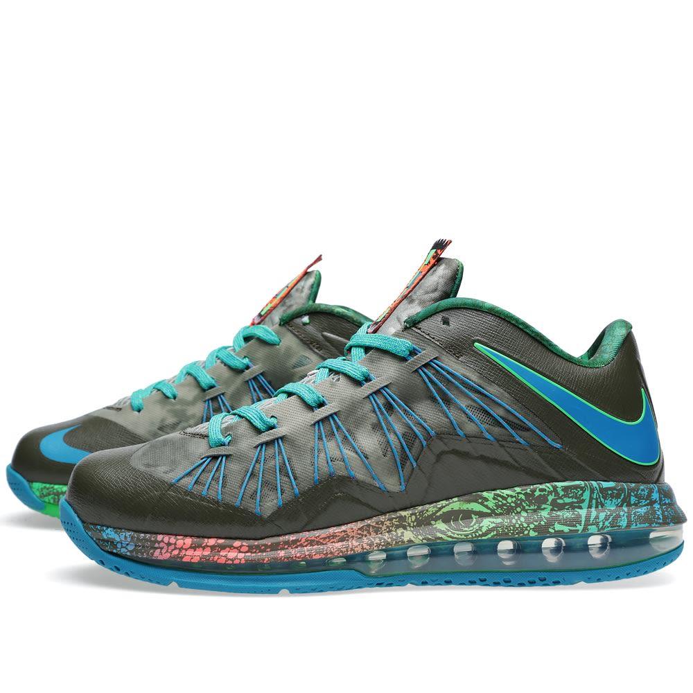 ad4b6bfab3e7 Nike Air Max LeBron X Low  Swamp Thing . Tarp Green. £125. image