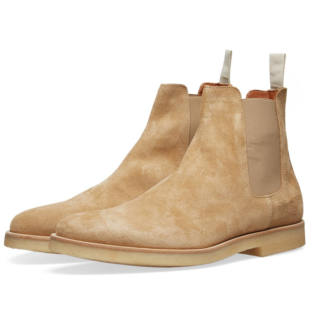 4be2ba4e3ddc Common Projects Chelsea Boot Tan Suede