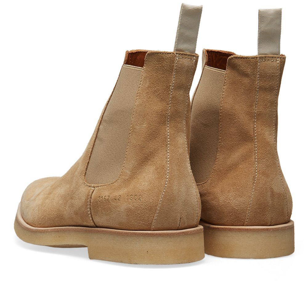 0356adb6bfb1ae Common Projects Chelsea Boot Tan Suede