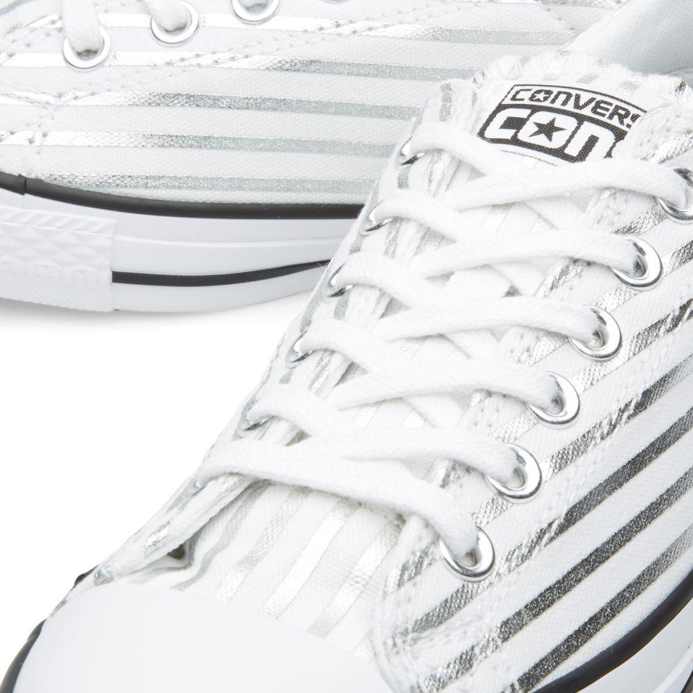 Converse CONS x Fragment Design CTS Ox  Metallic Stripe  White ... 64dd4858a2