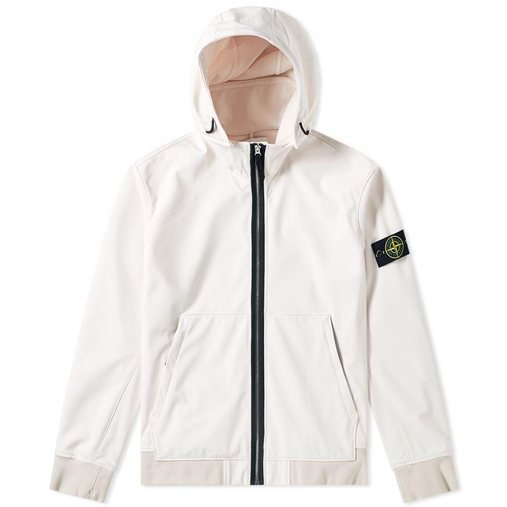 527f50cddf Stone Island Soft Shell R Fixed Hood Jacket Off White