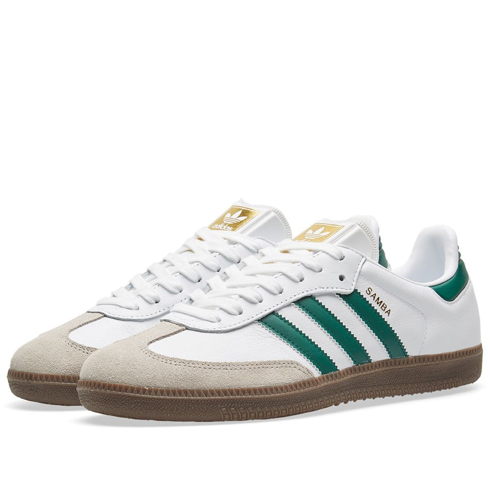 best loved 2eb09 59644 Adidas Samba White, Green   Clear Granite   END.