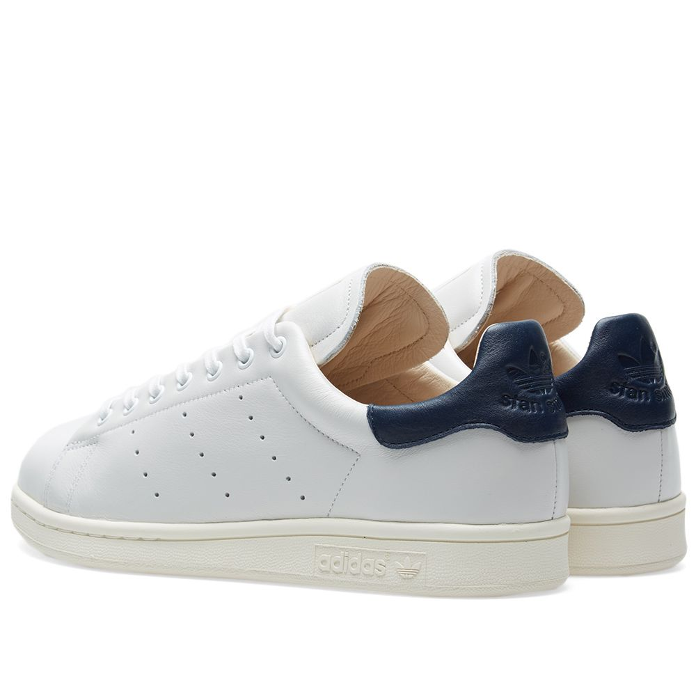 6b5774be7a63 Adidas Stan Smith Recon White   Collegiate Navy